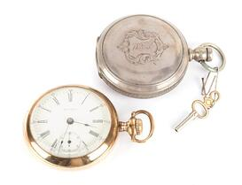 Lot 33 A Pair of Pocket Watches