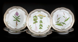 6 Royal Copenhagen Flora Danica salad plates
