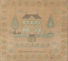 American needlework sampler, Baltimore, 1820