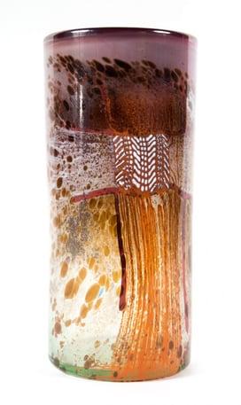 "Dale Chihuly ""Blanket Cylinder"" glass sculpture"