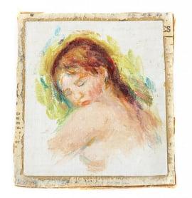 Pierre-August Renoir. Tete de Jeune Fille, oil