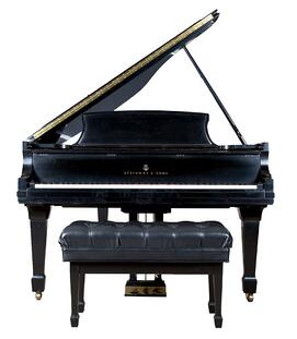 Steinway ebonized piano, Model B