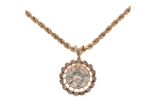 An Impressive 10.61ct Diamond Pendant in 14K
