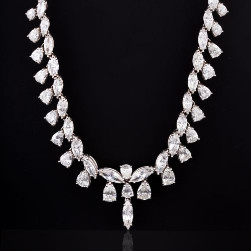 An Important 28 ctw Diamond Necklace in 14K Gold