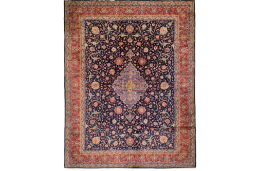 """Persian wool pile hand knotted rug, 10' x 12'7"""""""