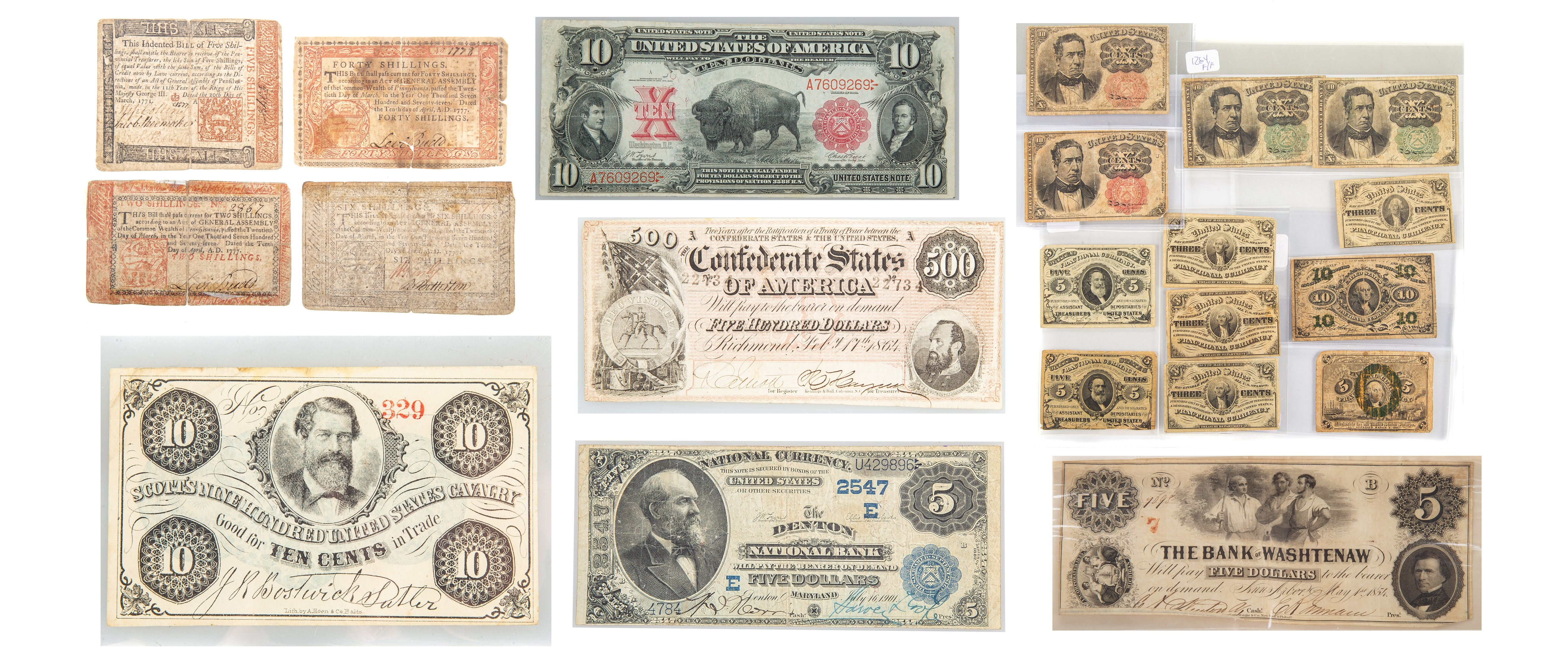 A US History Through its Currency